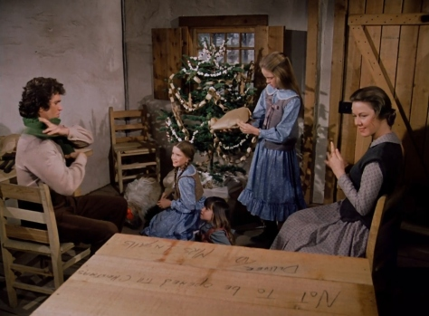 The Ingalls on Christmas morning.